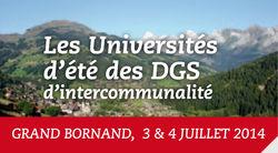 Universités d'Eté 2014 de l'ADGCF