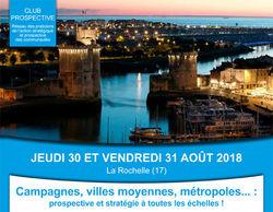 Campagnes, villes moyennes, métropoles ... : prospective et stratégie à toutes les échelles !