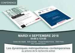 Conférence - Les dynamiques métropolitaines contemporaines au prisme de la recherche-action