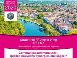 Séminaire Régional - Communes / communautés : quelles nouvelles synergies envisager ?