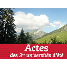 Actes des 3èmes universités d'été