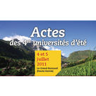 Actes des 4èmes universités d'été