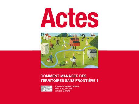 Actes des Universités d'Été 2016