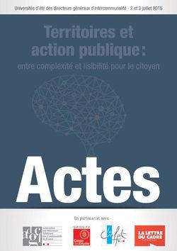 Actes des Universités d'Été 2015