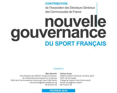 Publication :  contribution pour une nouvelle gouvernance du sport français