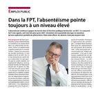 Dans la FPT, l'absentéisme pointe toujours à un niveau élevé